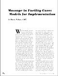 Massage in Facility Care