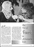 The Use of Touch in Alzheimer's Care